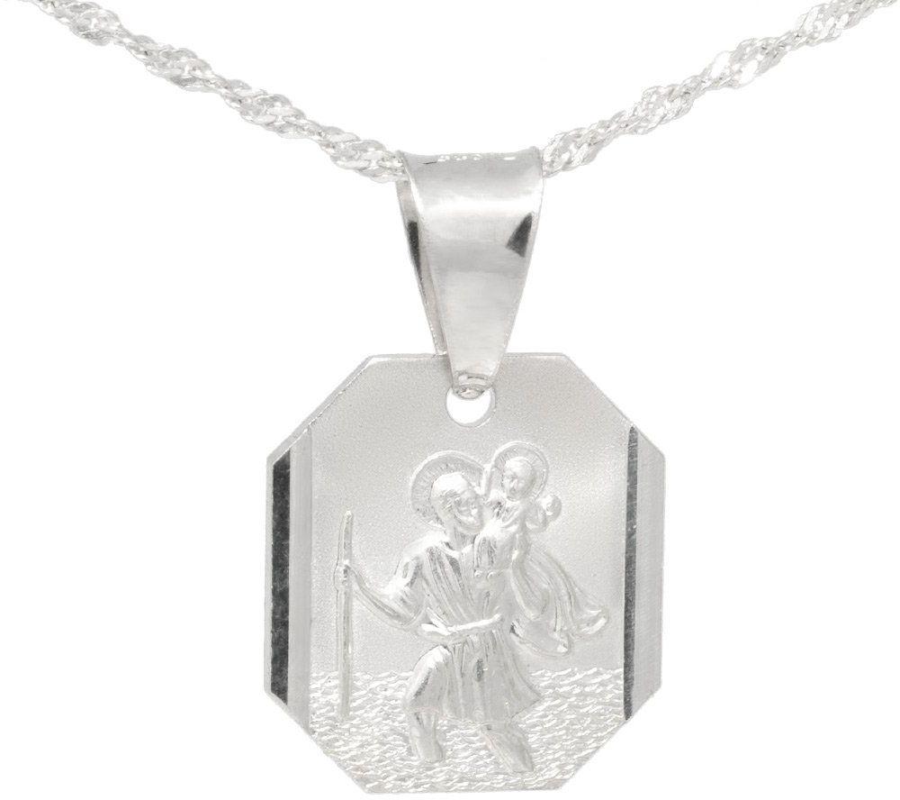 Srebrny medalik - Święty Krzysztof PREZENT