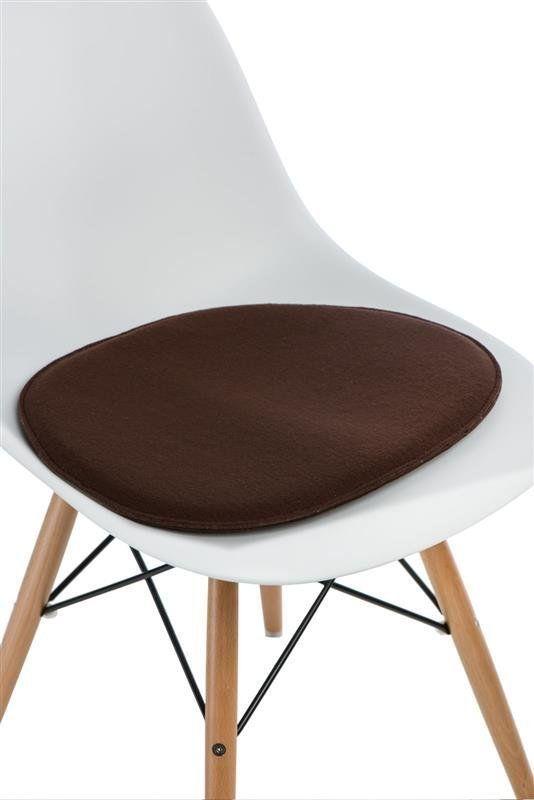 Intesi Side Chair brązowa poduszka na krzesło