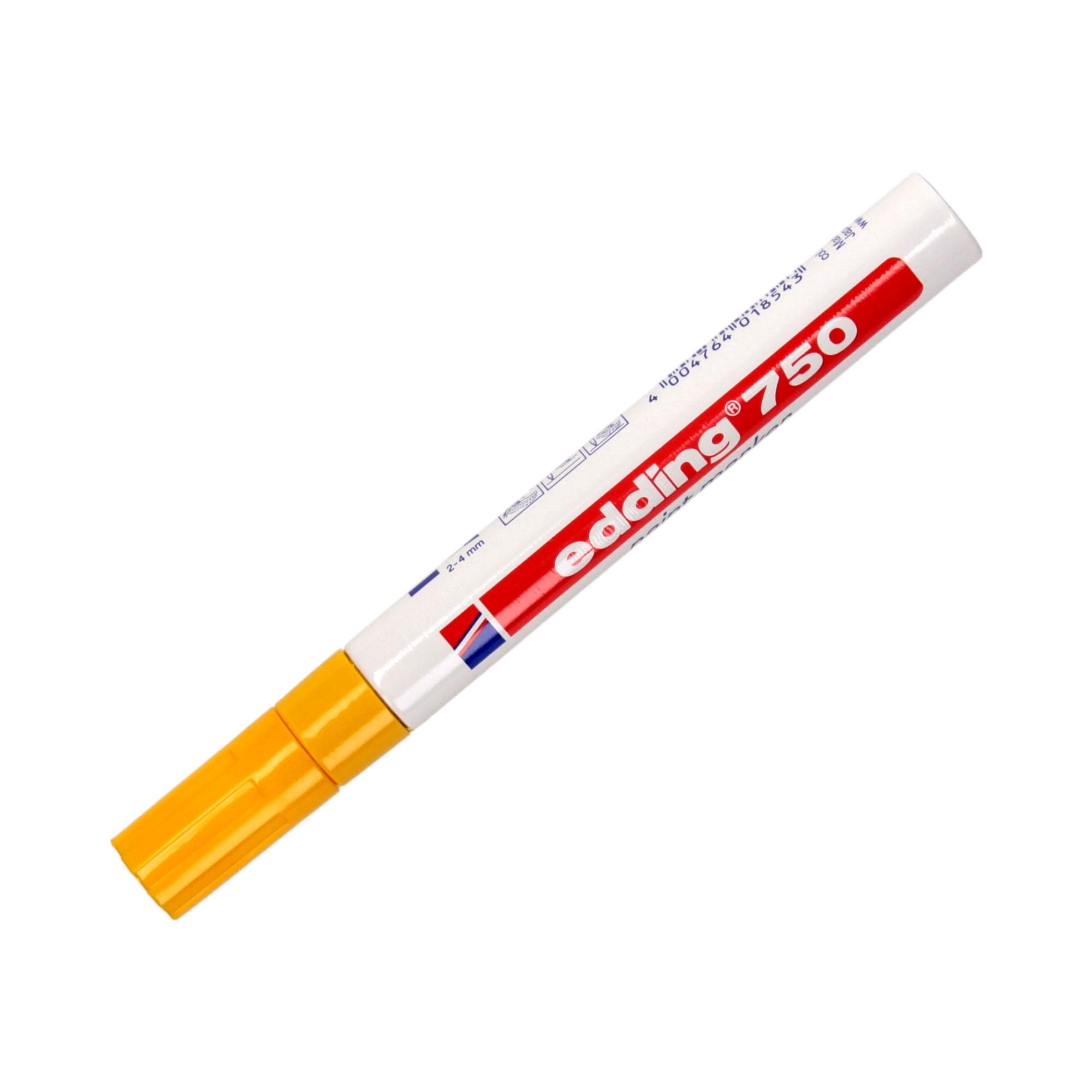Marker olejowy 2.0-4.0mm żółty okrągły Edding 750