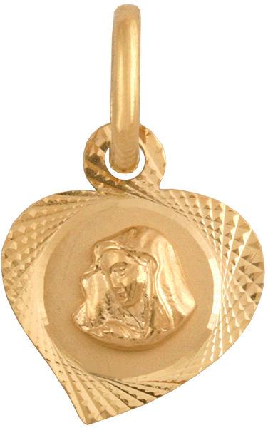 Złoty medalik 585 popiersie Matki Boskiej 0,65 g
