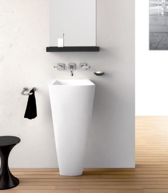 Marmorin umywalka stojąca Waver bez otworu biała 470040020010 __DARMOWA DOSTAWA__