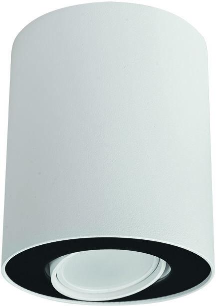 Plafon Set 8898 Nowodvorski Lighting biało-czarna oprawa w kształcie tuby