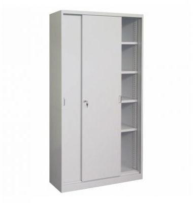 Metalowa szafa biurowa z drzwiami przesuwnymi i półkami SBM 221