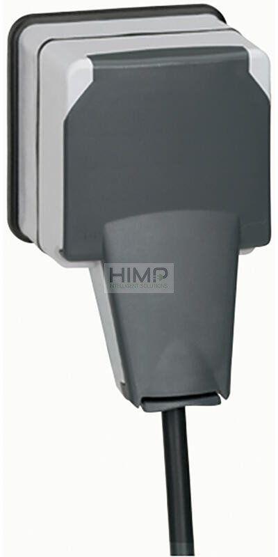 PLEXO IP66 Gniazdo 2P+Z z klapką blokującą wtyczkę 16 A - 250V~ natynkowe Legrand 090465