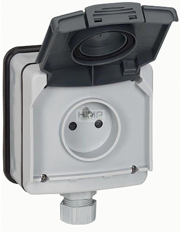 PLEXO IP66 Gniazdo 2P+Z z klapką 16 A - 250 V~ natynkowe Legrand 090466