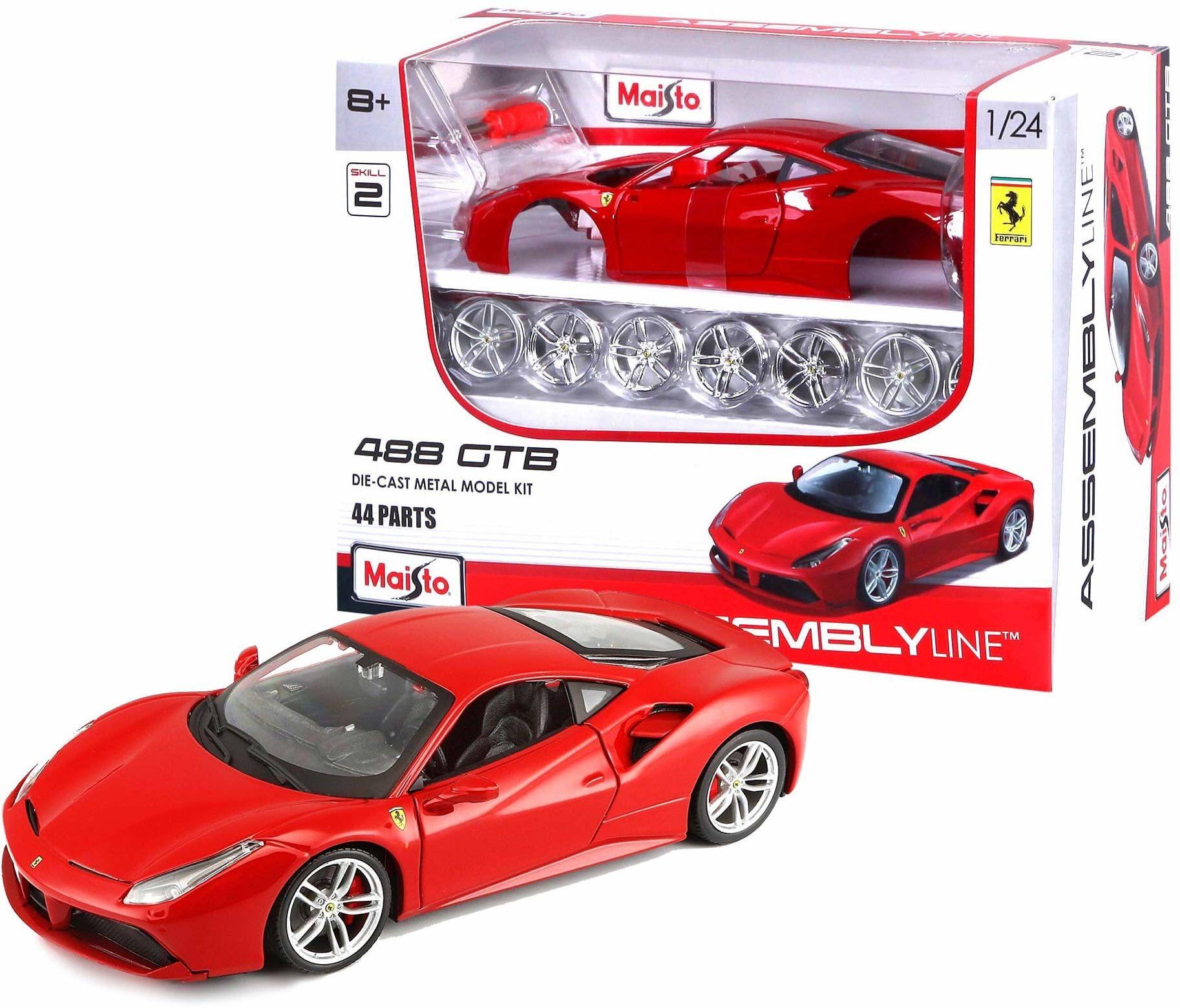 Maisto M39131 odlewany pod ciśnieniem w skali 1:24 zestaw modeli do budowy Ferrari 488 GTB