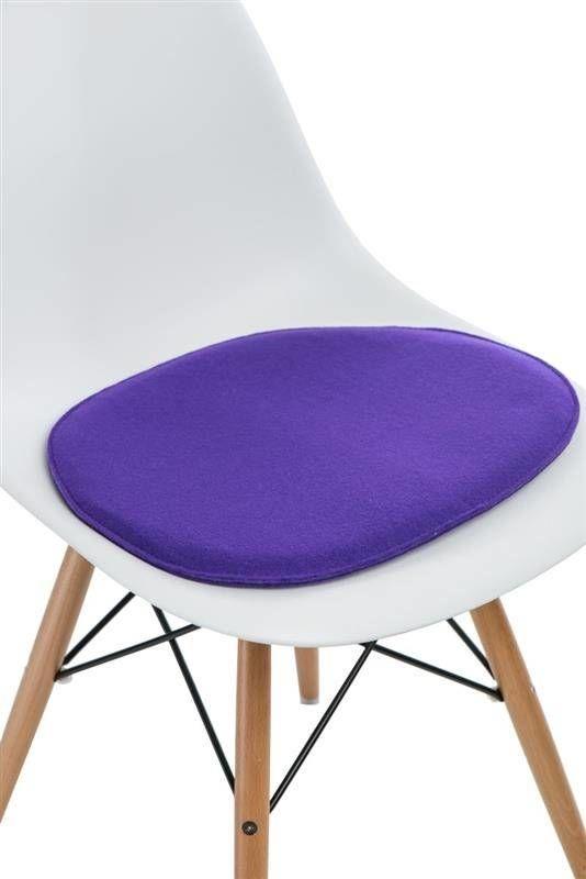 Intesi Side Chair fioletowa poduszka na krzesło