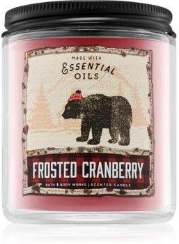 Bath & Body Works Frosted Cranberry świeczka zapachowa 198 g