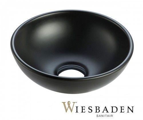 Umywalka nablatowa ceramiczna 28 cm czarna matowa KIMO