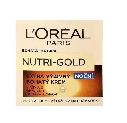 Loreal Nutri Gold odżywczy krem do twarzy na noc - 50ml Do każdego zamówienia upominek gratis.
