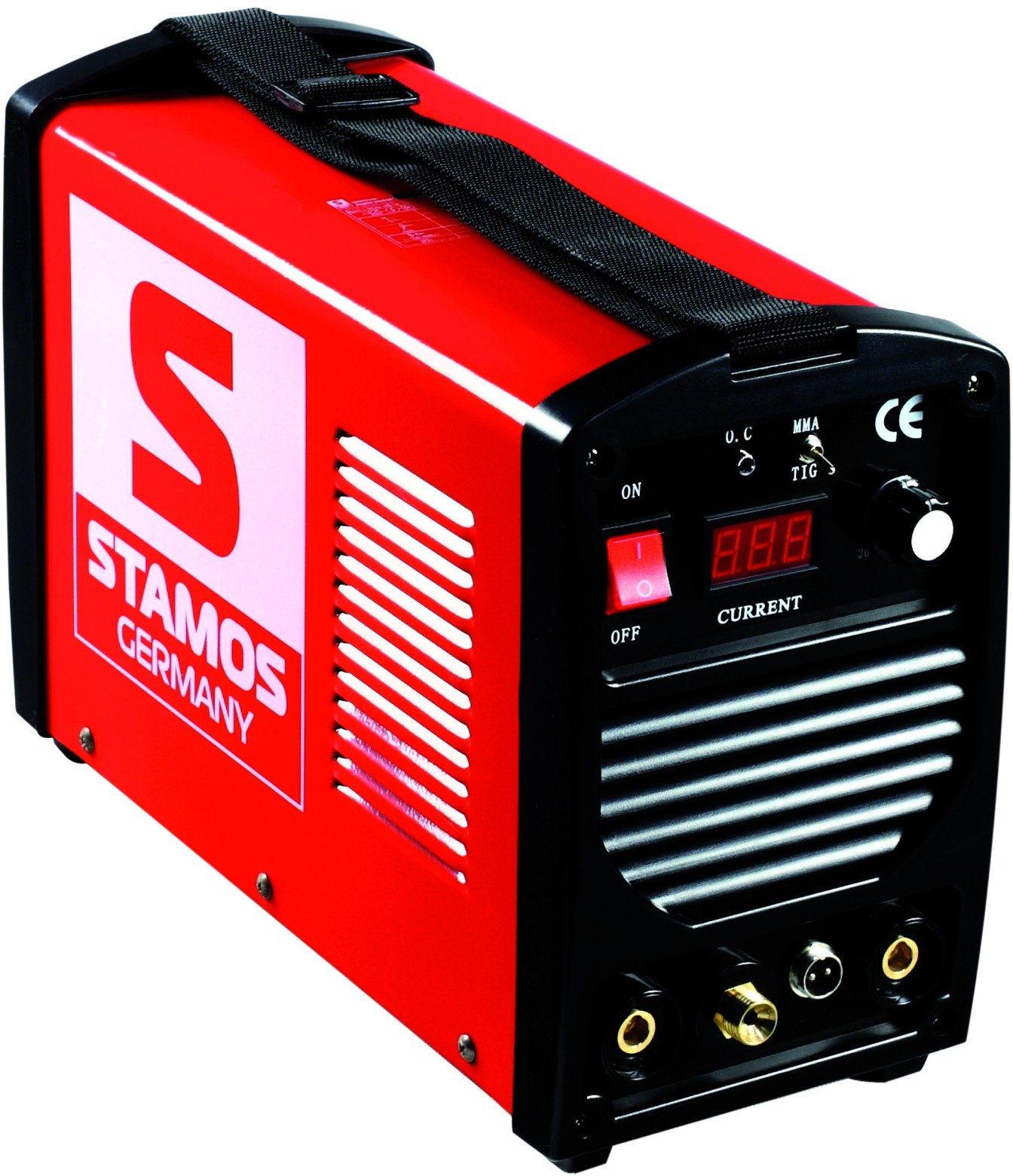 Spawarka TIG - 250 A - 230 V - przenośna - PLUS maska spawalnicza - Firestarter 500 - Advanced - Stamos Basic - S-WIGMA 250 - 3 lata gwarancji/wysyłka