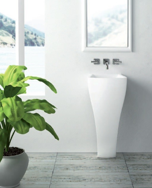 Marmorin umywalka stojąca Wave bez otworu biała 475040020010 __DARMOWA DOSTAWA__
