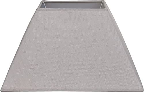 Better & Best Form klosz z lnu, kwadratowy, chiński, 35,5 cm, taupe, wymiary na dole: 34 x 34 na górze: 16,5 x 16,5 cm, wysokość: 21 cm