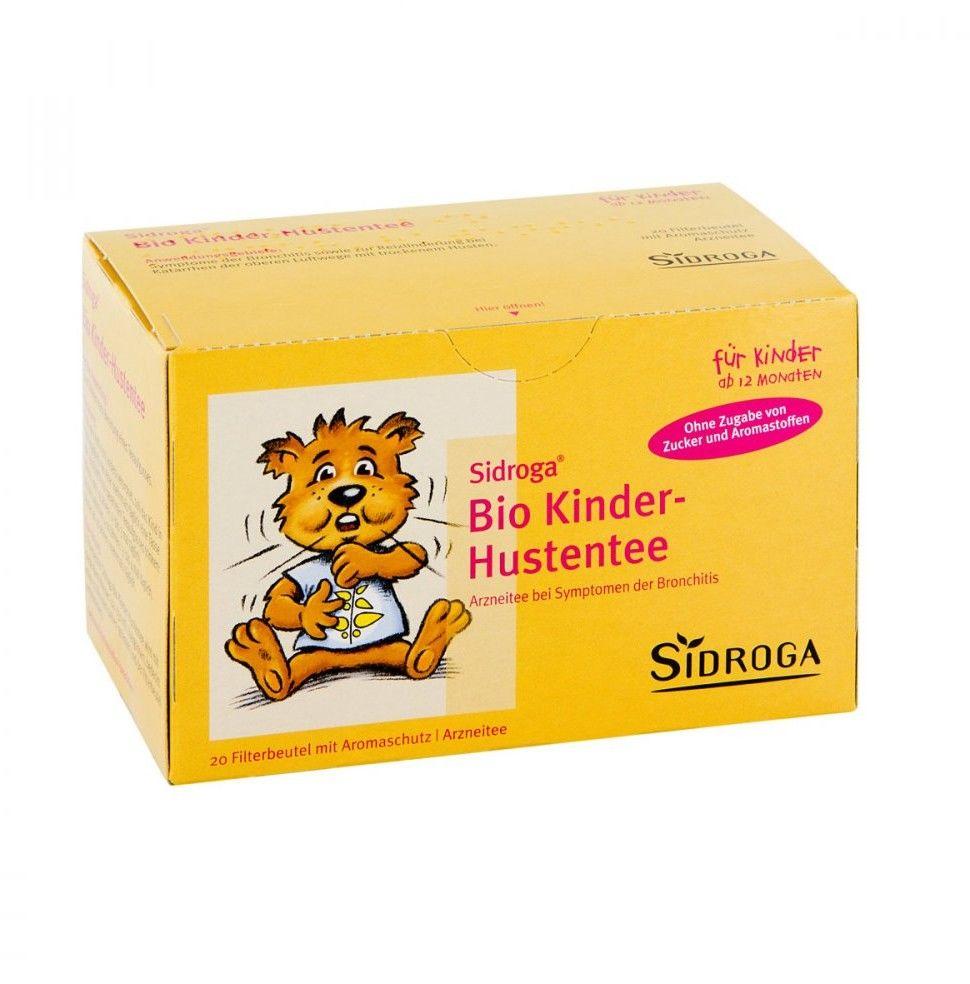 Sidroga Bio Kinder herbata dla dzieci przeciw kaszlowi saszetki
