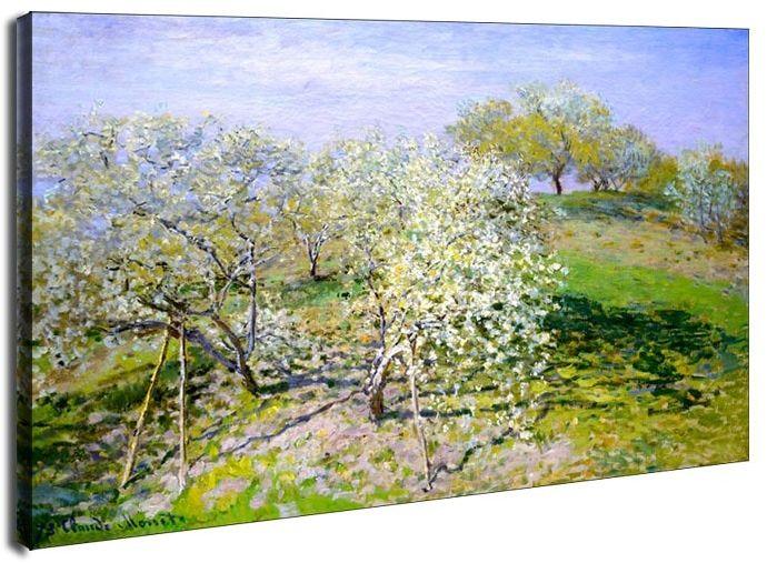 Apple trees in bloom, claude monet - obraz na płótnie wymiar do wyboru: 60x40 cm