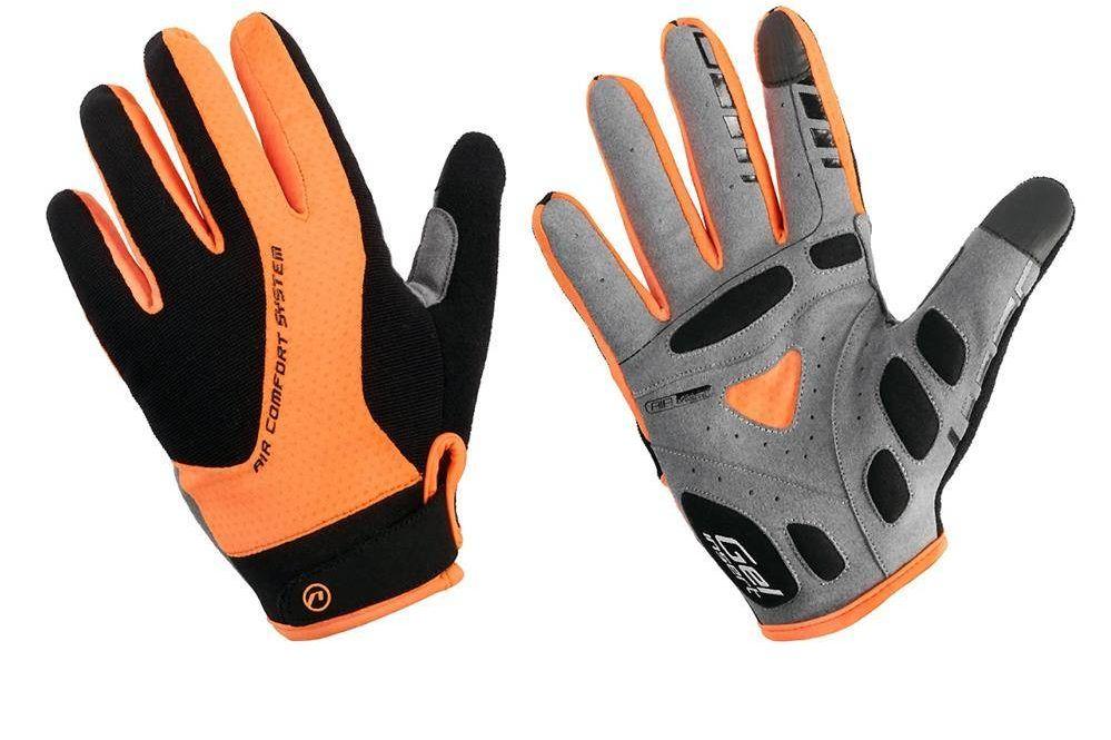 Rękawiczki z długimi palcami Accent Champion czarno-pomarańczowe M