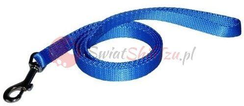 Chaba smycz taśma - 10mm 130cm niebieska