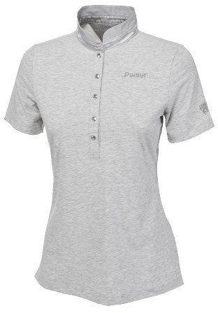 Koszulka polo damska Pikeur QUIRINE - light grey melange