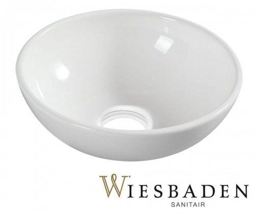 Umywalka nablatowa ceramiczna 28 cm biała KIMO