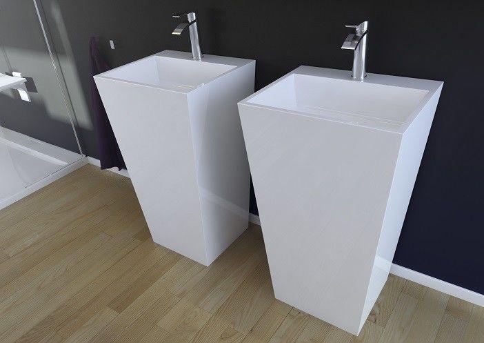 Besco Vera umywalka wolnostojąca 40x50x85 cm Mineral DuraBe Biała