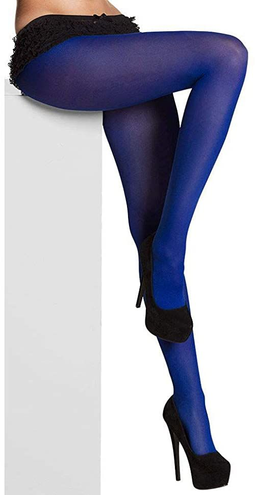Boland 10131816 rajstopy Opaque, niebieskie, One Size