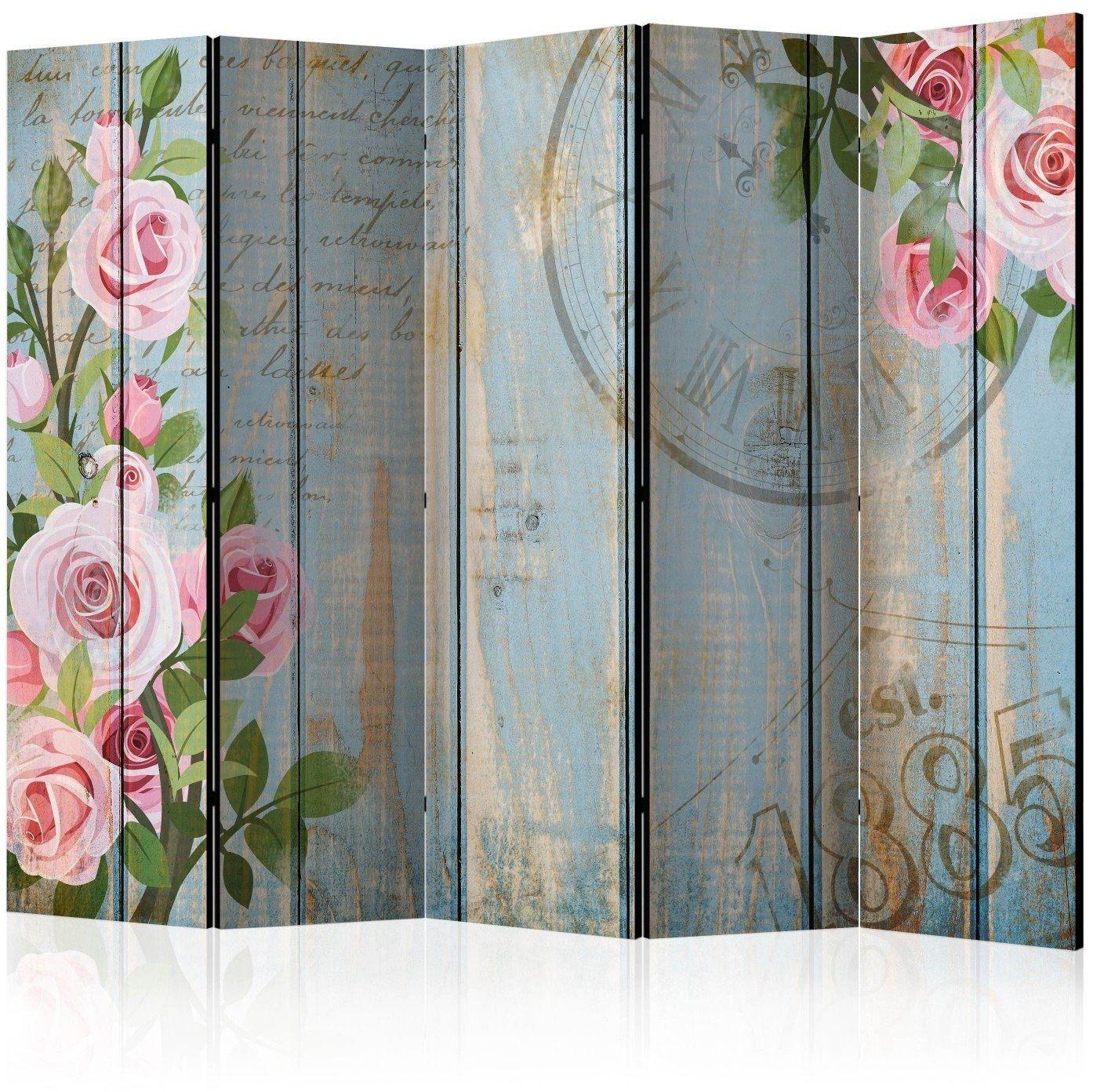 Parawan 5-częściowy - vintage garden ii [room dividers]