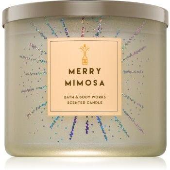 Bath & Body Works Merry Mimosa świeczka zapachowa 411 g