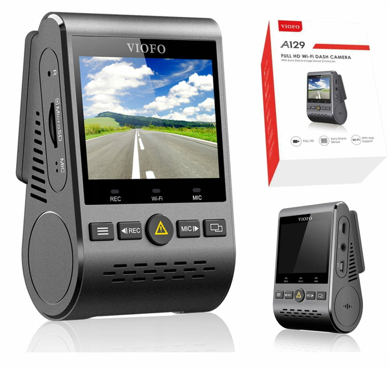 KAMERA REJESTRATOR VIOFO A129-G GPS WIFI SONY 60KL