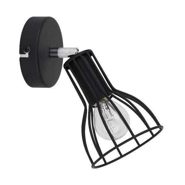 Lampa kinkiet z drutu MEGAN czarny 18cm 2743104 Spot Light