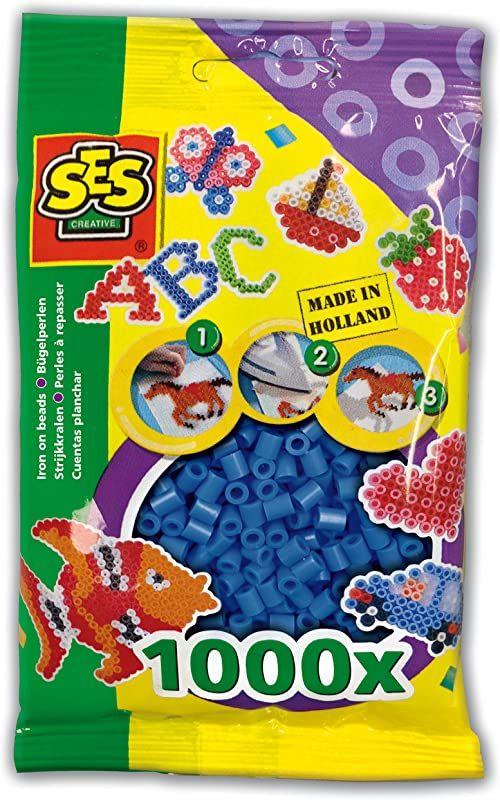 SES Creative 00724 dziecięce koraliki do prasowania, granatowe
