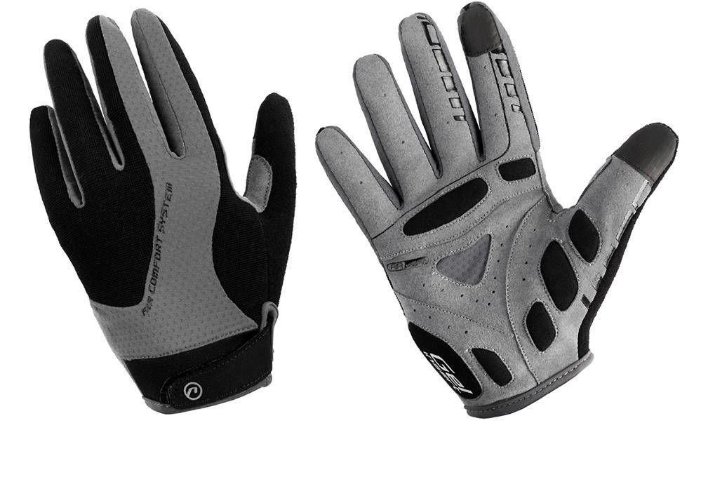 Rękawiczki z długimi palcami Accent Champion czarno-szare XXL