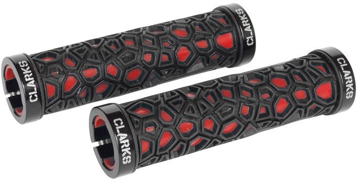 CLARK''S chwyty kierownicy rowerowej CLO208 LOCK-ON black/red,5021646025528