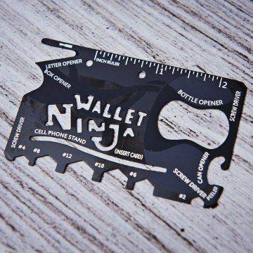 Karta Wallet Ninja - Multitool 18 w 1