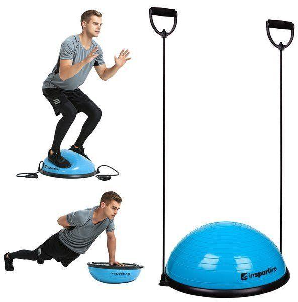 Trener równowagi z linkami do ćwiczeń Dome UNI Insportline niebieski