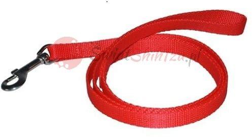 Chaba smycz taśma - 10mm 130cm czerwona