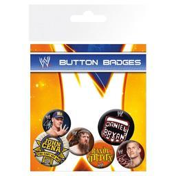 WWE - zestaw przypinek
