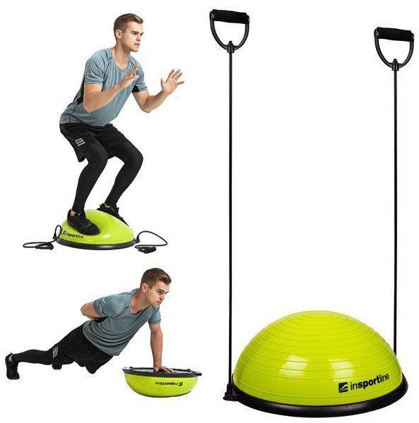 Trener równowagi z linkami do ćwiczeń Dome UNI Insportline zielony
