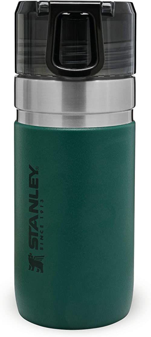 Stanley Vacuum Insulated Water Bottle 0.47L / 16OZ Moss Green  Termos ze Stali Nierdzewnej do zimnych napojów - Szczelna, przezroczysta nakrętka - BEZ BPA - Łatwy w noszeniu - Do Mycia w Zmywarce