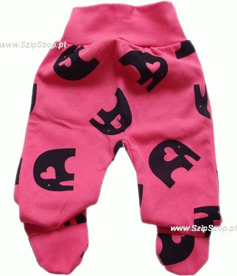Półśpiochy dla niemowląt Słonik Gracjanek różowy