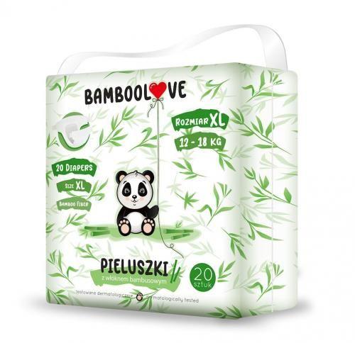 Pieluchy z włóknem bambusowym rozmiar XL 12-18 kg (20 szt) Bamboolove