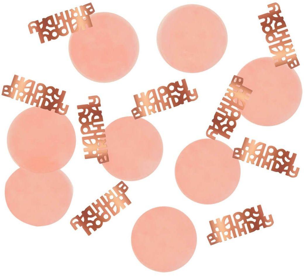 Konfetti urodzinowe Happy Birthday różowe złoto - 25 g