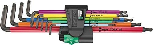zestaw 9 szt. kluczy trzpieniowych długich z kulką, TORX 8-40, 967/9 TX XL Multicolor Wera [05024480001]