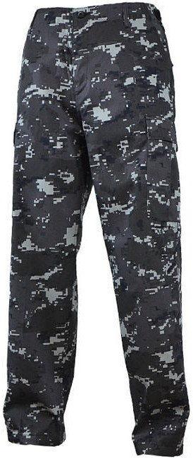 Mil-Tec Spodnie BDU Ranger Black Digital