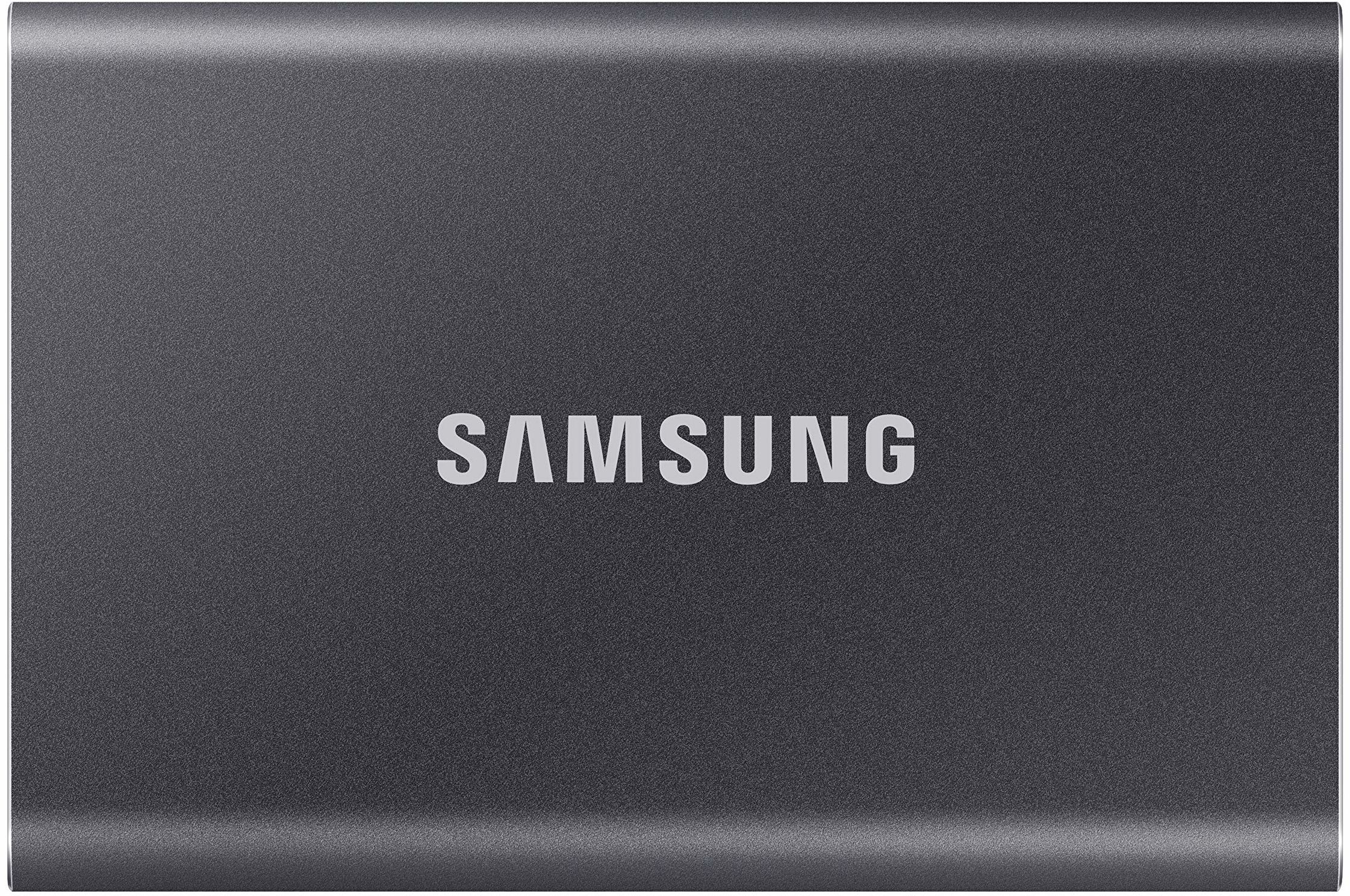 Samsung, T7 Zewnętrzny Dysk SSD, 1 TB, Szary (Titan Gray)