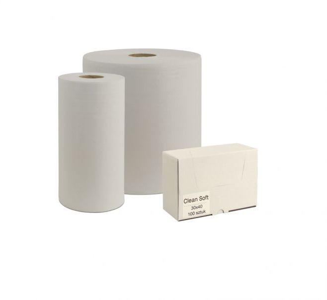 Czyściwo włókninowe CLEAN SOFT w małej roli białe, 118 listków