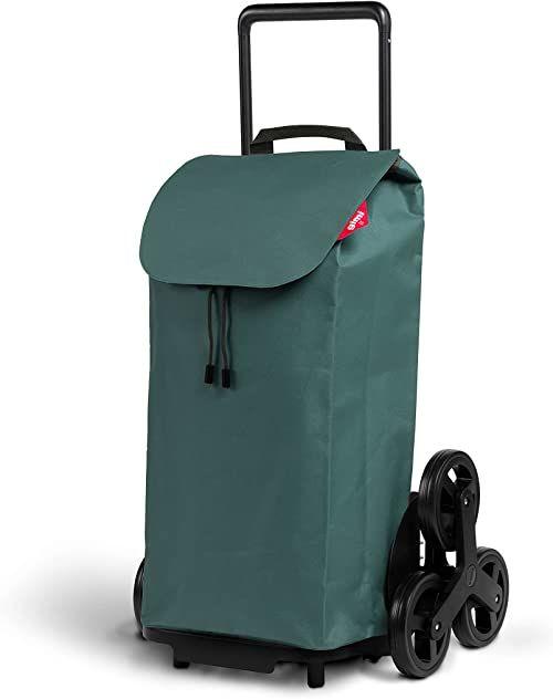 Gimi Tris wózek na zakupy, torba hydrofobowa, system 3 kółek, składany stelaż, pojemność: 52 l, maksymalne obciążenie: 30 kg, rama: stal/tworzywo sztuczne, torba na zakupy: poliester, khaki