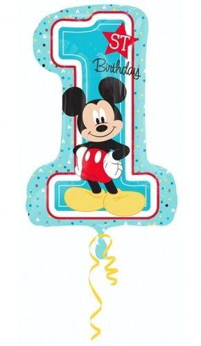 """Balon foliowy 36"""" na roczek, cyfra 1 """"Mickey Mouse"""""""