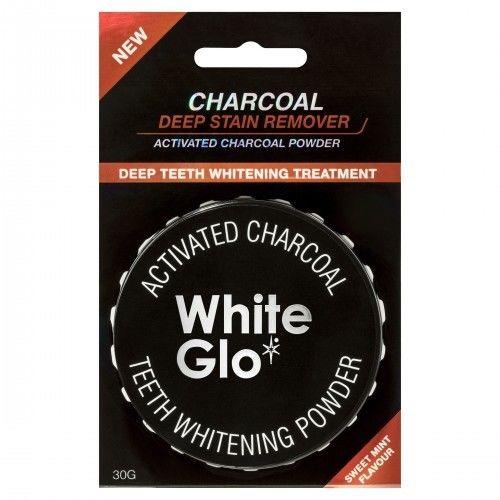 White Glo Węgiel w proszku do wybielania zębów 30g