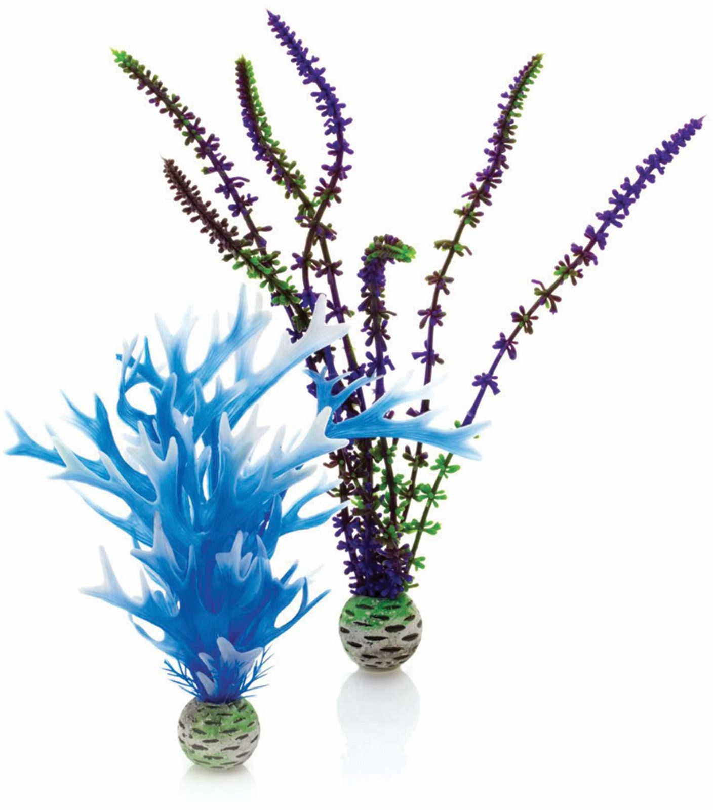 biOrb Prosta roślina, średnia, 2 sztuki, niebieski/fioletowy