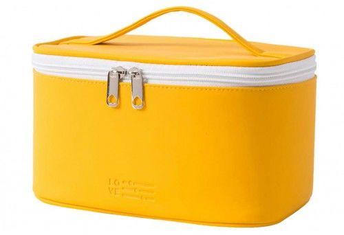 Kuferek na kosmetyki Cyprus żółty